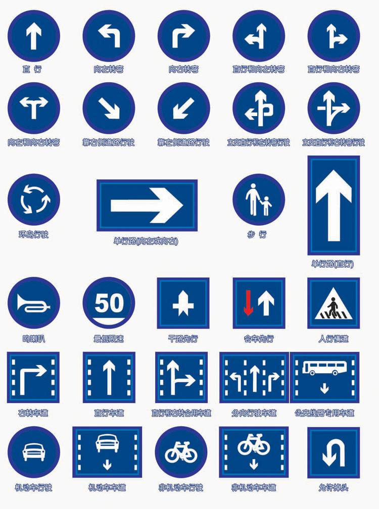 求文档: 交通标志图解图片