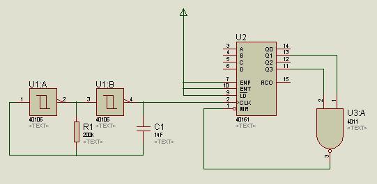 怎样用74161设计一个模十计数器(十进制加法计数器) ,来个电路图