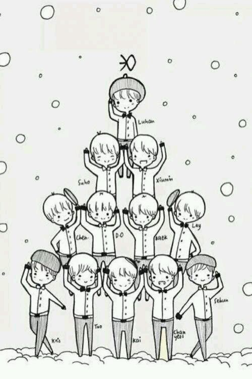 EXO简笔画