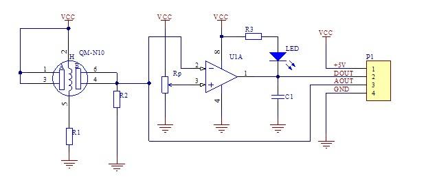 mq-2传感器模块原理分析