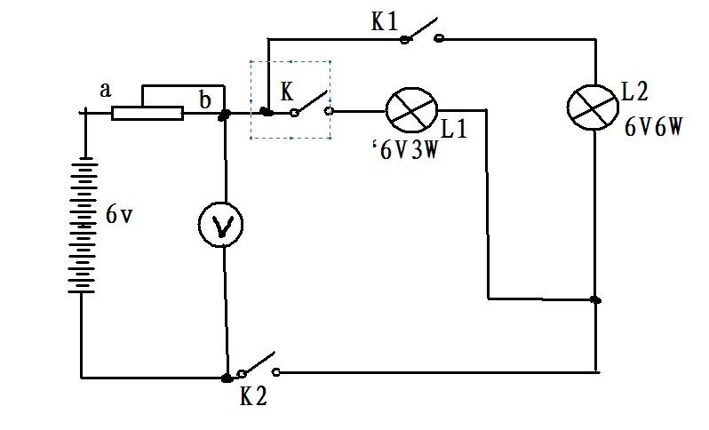"""如图所示的电路,电源电压保持不变,灯泡l1标有""""6v3w"""""""