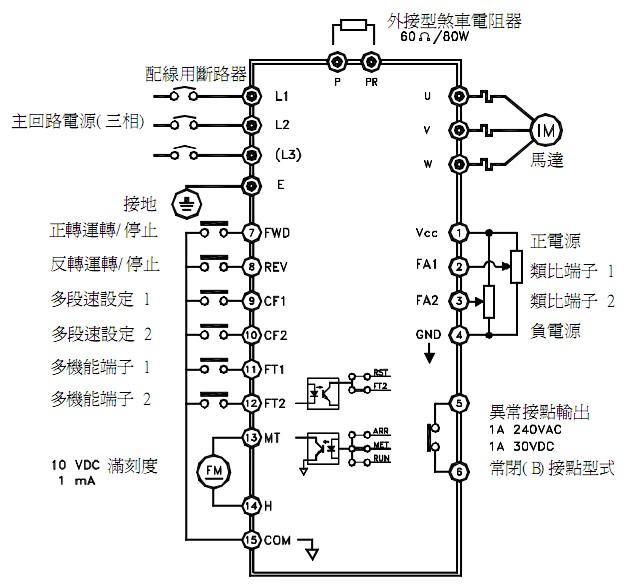 谁有变频器的接线端子图