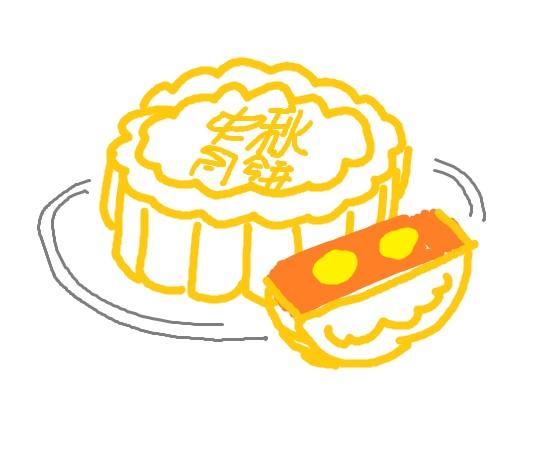 求月饼简笔画图片