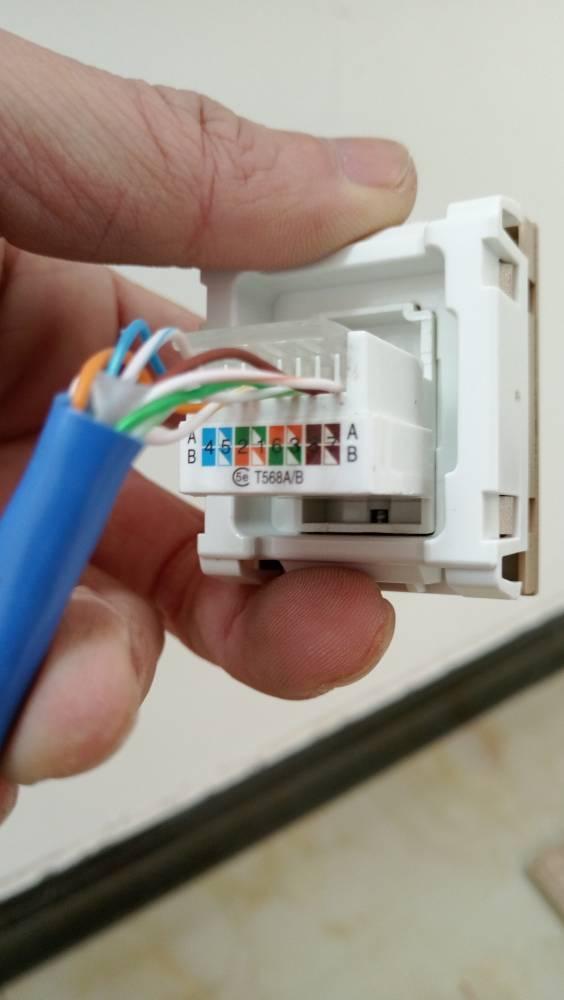 家装网线盒子接线方法