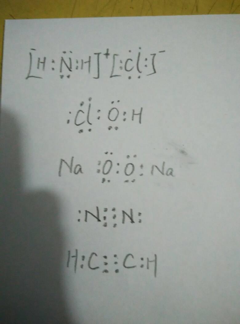 hclo.na2o2.co2.n2.乙炔…的电子式图片