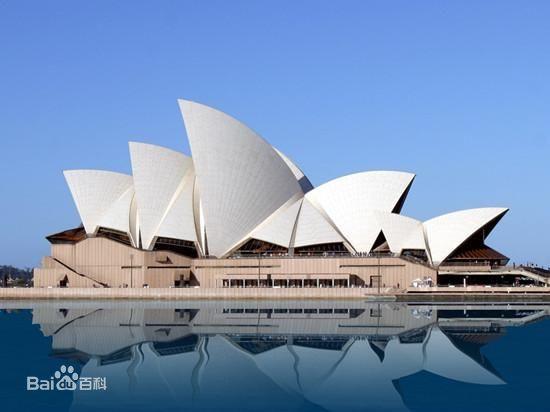 悉尼的标志性建筑是悉尼歌剧院.图片