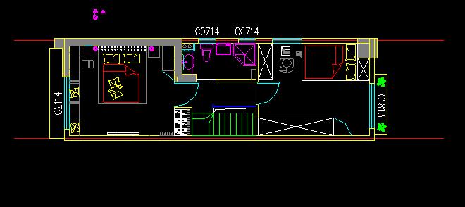 二间三层(7.52米*17米)设计图
