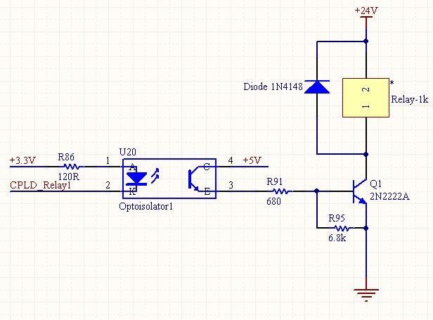 光耦接三极管驱动继电器的问题,遇到麻烦求解?图片