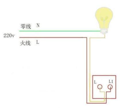 一灯一控开关接线图解