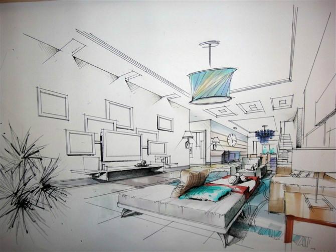 室内设计手绘表现技法的内容提要