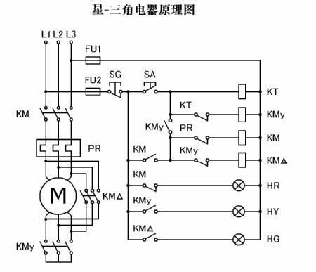 三相异步电动机控制回路接线图