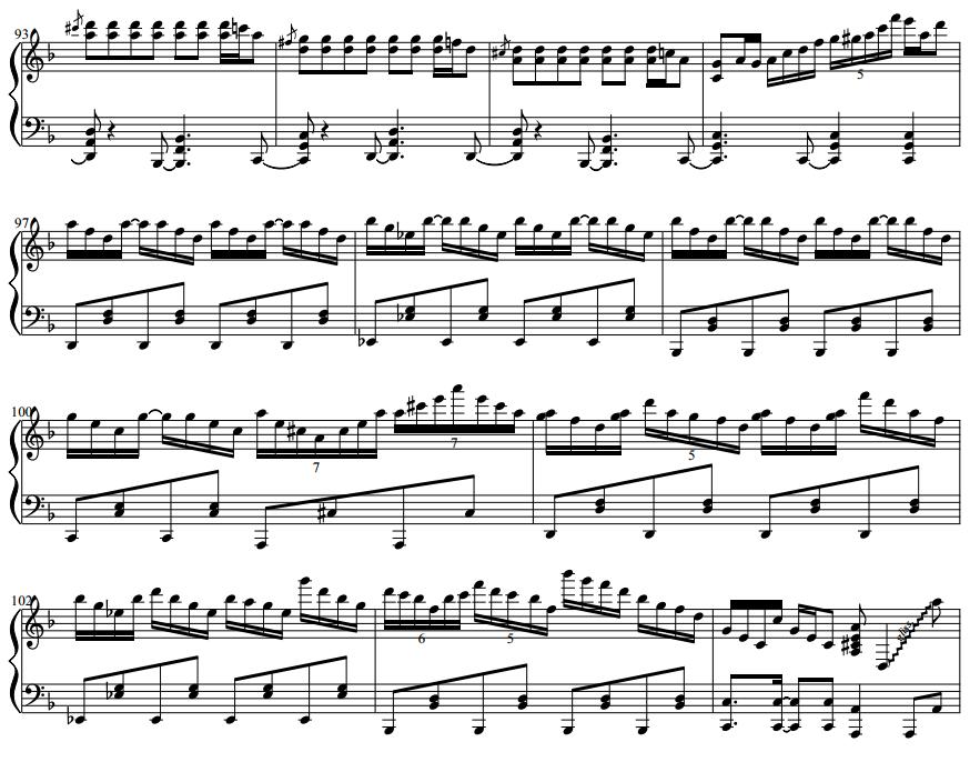 谁能帮我把这段千本樱钢琴谱翻译成简谱图片