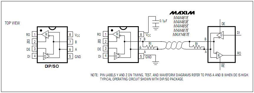寻rs485/usb转换器的的接线图(单片机连接)
