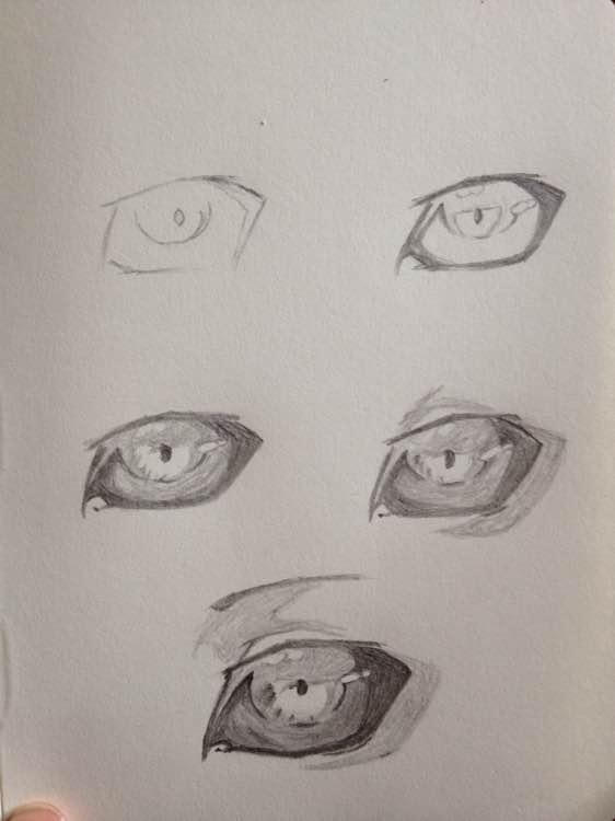东京食尸鬼喰种眼睛画法步骤,最好是图