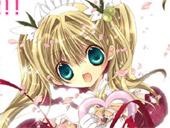 花园花铃cv照片_日本动漫《小女神花铃》中的女主花园花铃,旁边的是男主九条和音