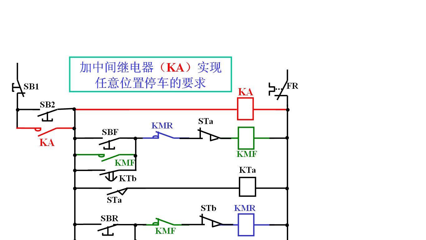 电机正反转控制电路 二次回路 的一些问题