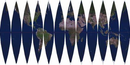 地球仪展开图
