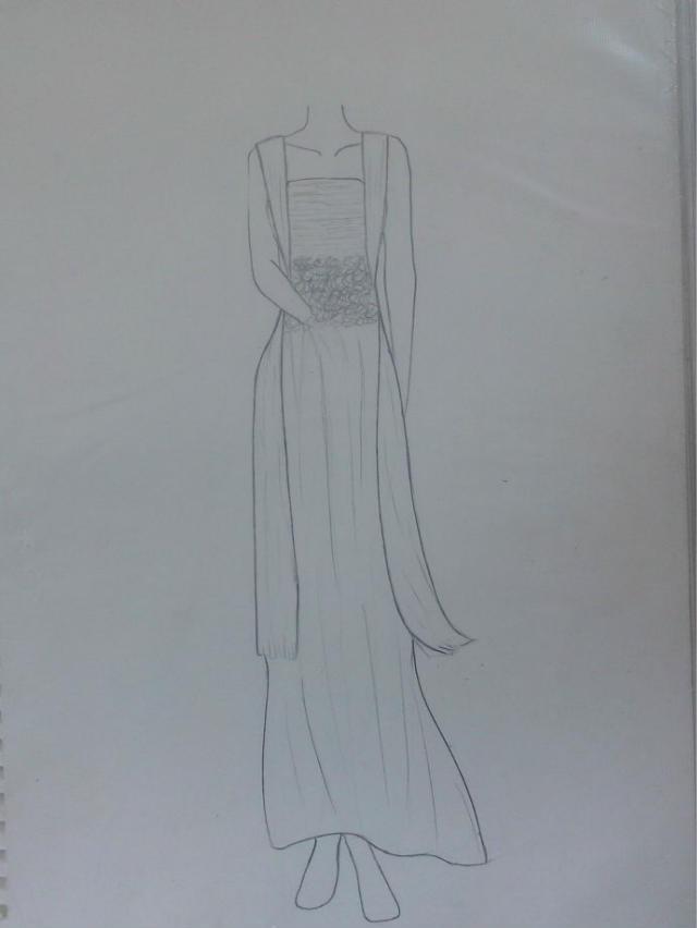 有需要礼服设计手稿服装设计稿的吗?