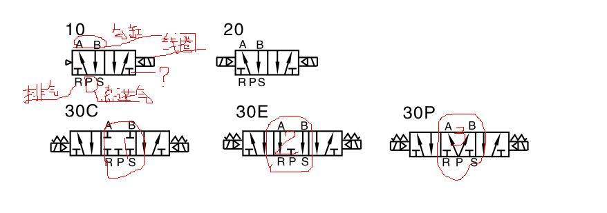气动电磁阀图是什么意思?t形符号表示什么?图纸中标下图片