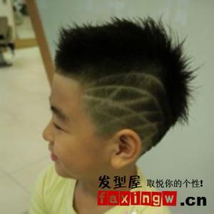 一种发型的名字,就是一种在头的两边刻几条痕状或者闪电的男生发型.图片