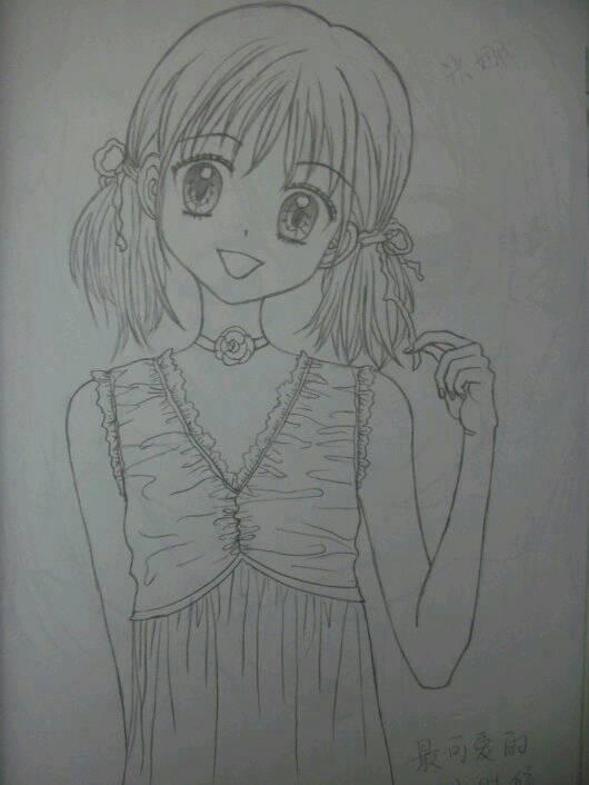 谁有萌动漫女生图片,不要太乱的,我画画
