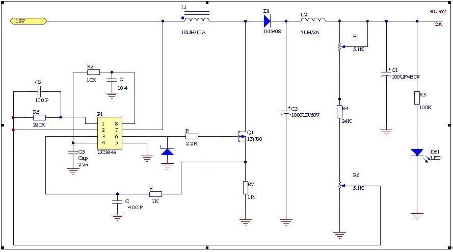 uc3843升压电路电压过高故障图片