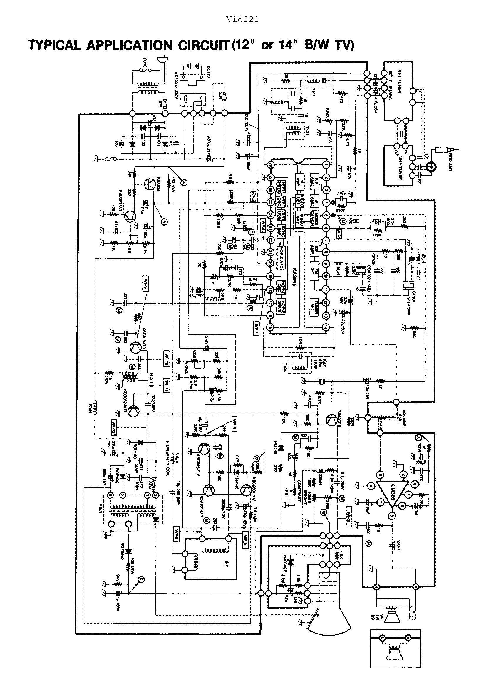 5或4.5寸黑白电视机整机电路图谁有啊?