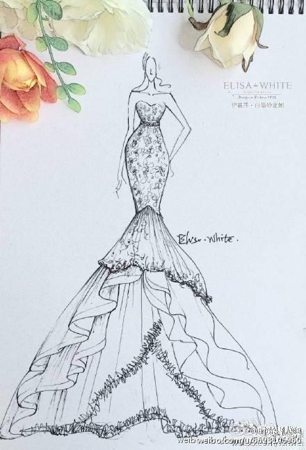 衣服的设计图,什么衣服都可以,要图,手画的图片