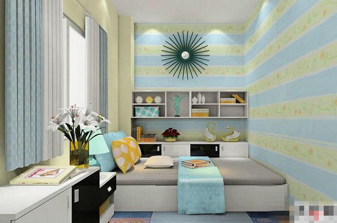 下面是4平米小卧室效果图,仅供参考