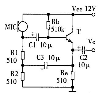 驻极式电容话筒加什麽电路可以像动圈式话筒在普通放大器上使用,请给