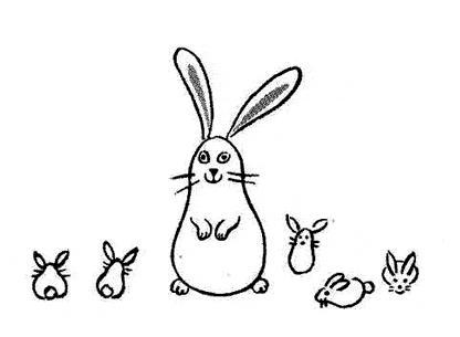 有关兔子的简笔画