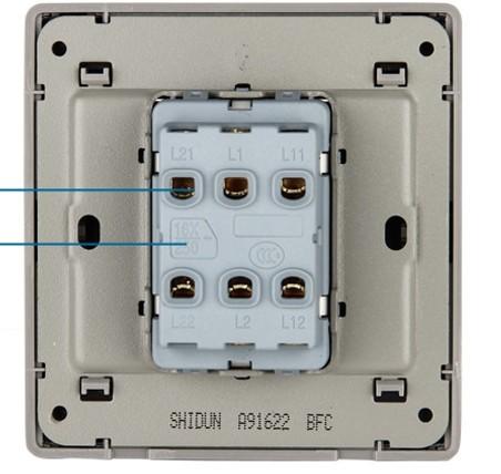 双开双控开关,如何接线,床头和门口控制两个灯的,求求