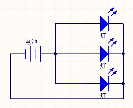 接着你在把等效电路图画出来就是这三个灯泡都并联!