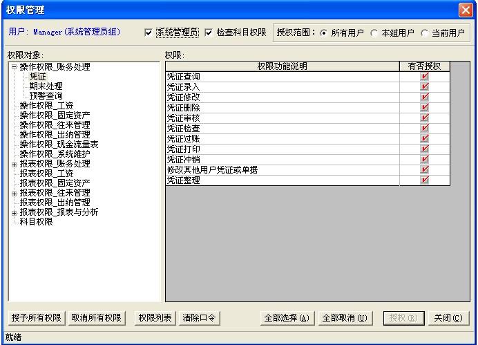 金蝶财务软件是划分权限分组管理以实现技巧进行的?折用户凭证图片