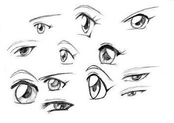 求铅笔画的动漫眼睛