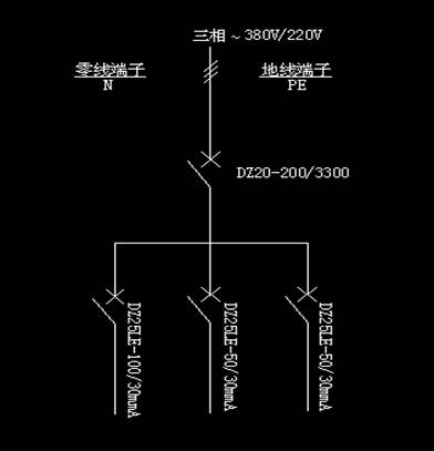 建筑施工手提配电箱接线图