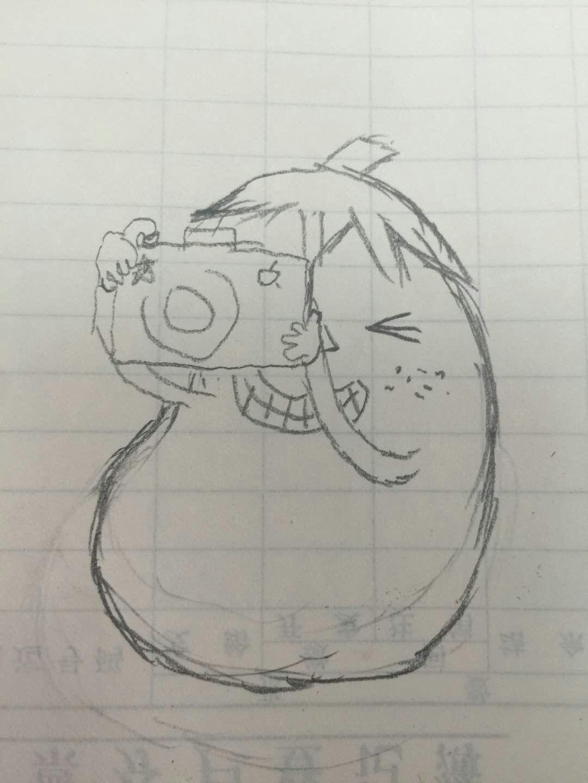 支架相机简笔画手绘