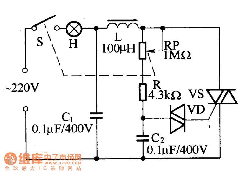 帮设计晶闸管调光电路