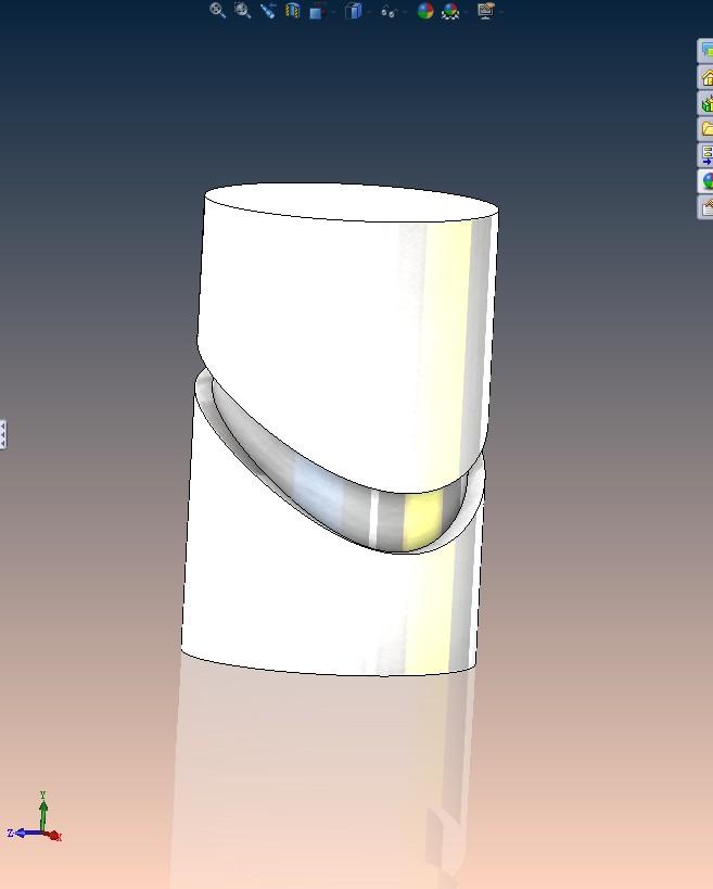 追问 大神有qq吗教教我吧 追答 具体步骤: 先画一个圆柱; 画一条曲线