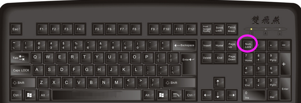 """第二个灯对应键盘的shitf上面的""""caps lock""""按键,开关后大写锁定图片"""