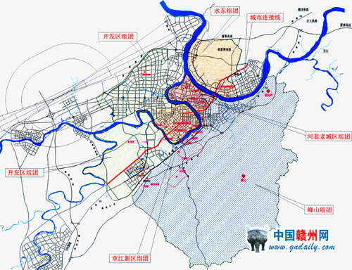 赣州市城市总体规划图