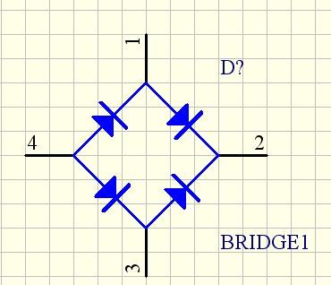 pcb中的桥式电路(bridge)的封装是什么?