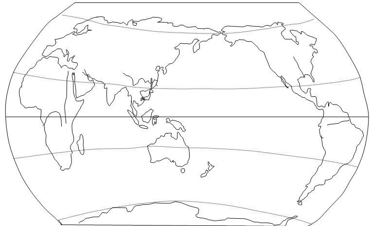 如何快速画出世界地图轮廓