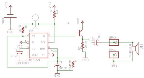 请问这个电路图右边蜂鸣器前面的spk 和spk-是什么?有
