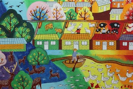关于春天的绘画作品(图片)图片