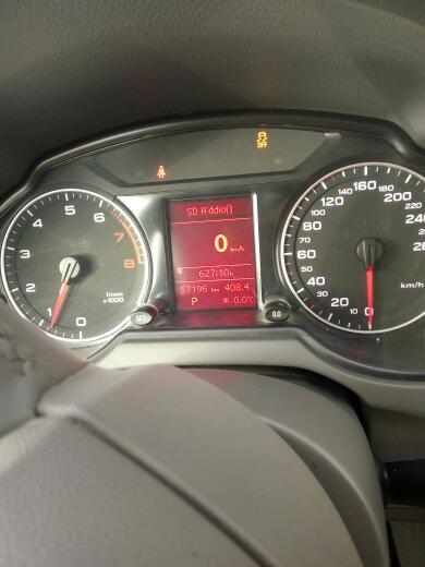 奥迪q5仪表盘出现小车连续拐弯图标是什么意思?