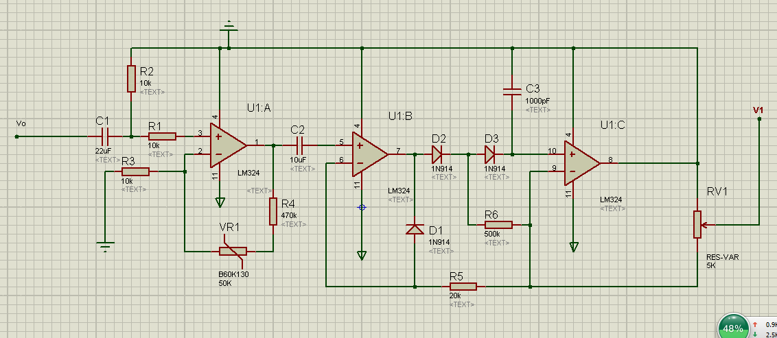 参与团队:电子~家园  展开全部 放大倍数就来自第一级运放电路,=1 (r4