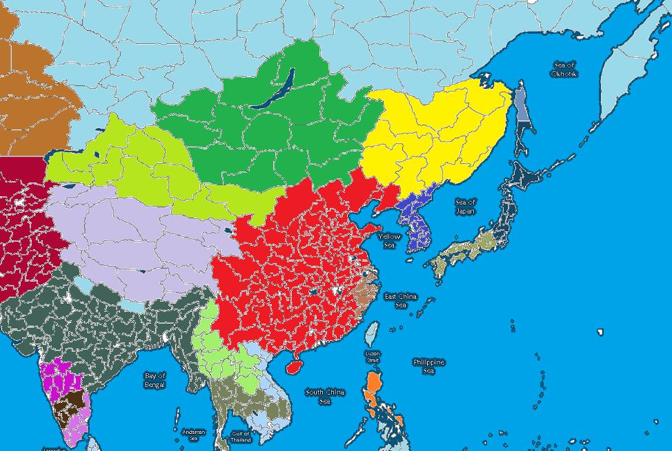 中国民族分布图手绘