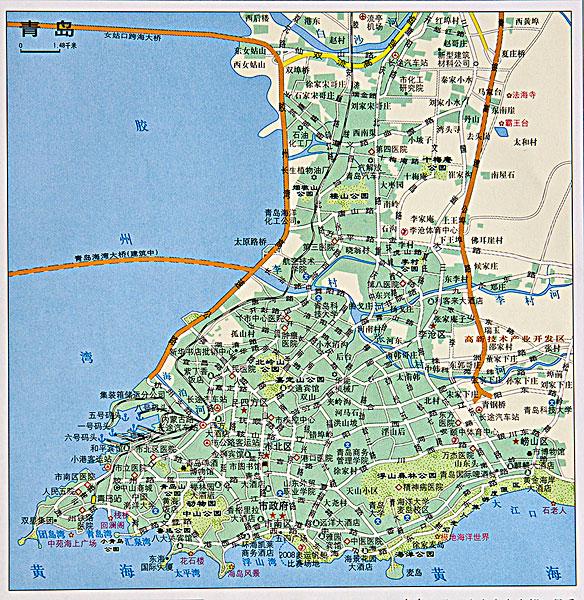青岛地图的介绍