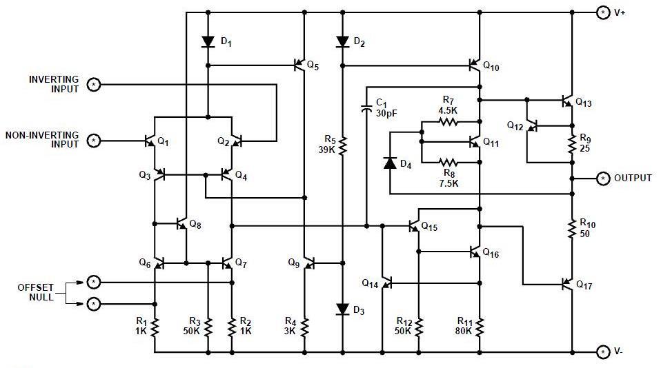 高分求 运算放大器,电压/电流比较器 的内部电路资料